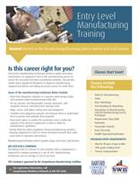 Training Opportunity - Entry Level Manufacturing Training