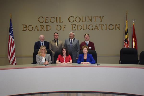 2017-2018 Cecil County Board of Education members