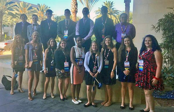 North East High School Future Business Leaders of America Chapter at the National Conference in CA, July 2017,