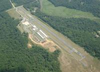 Claremont Airport from the sky