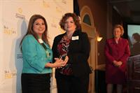 Small Business Leaders Award - Melissa receiving award