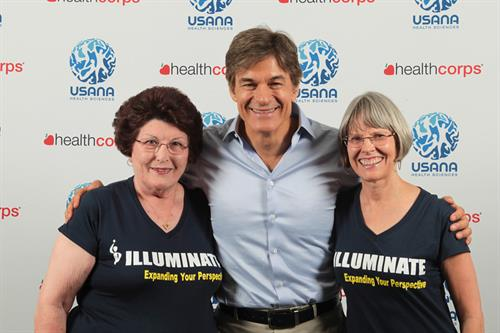 Dr Mehmet Oz with Marilyn Chapman and Reinette King