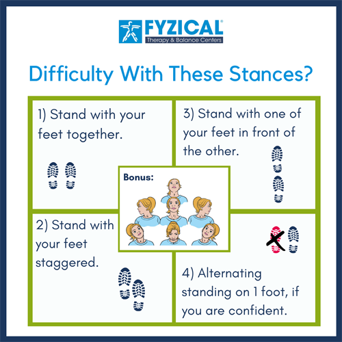 Assessing difficulty with standing balance
