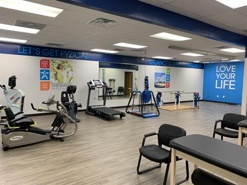 Clinic with exercise and balance training equipment