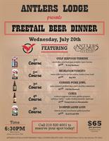 Lamb and Ale Never Fail: Antlers Lodge Features Five Course Freetail Beer Dinner