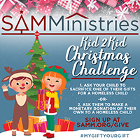 SAMMinistries Launches Gifting Challenge for Children