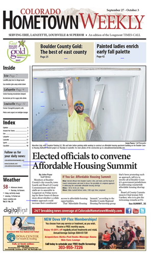 Colorado Hometown Weekly front pages