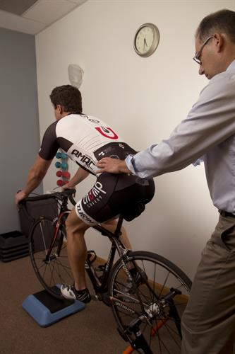 Bike fit with physical therapy