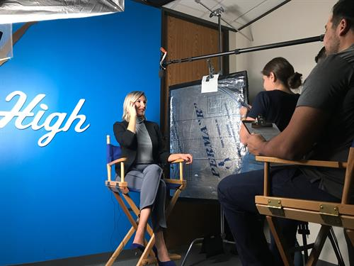 Behind the scenes set-up with CEO of Sky High for Kids, a non-profit client dealing with pediatric cancer.