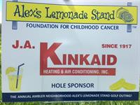 We had a wonderful time golfing as a sponsor for Alex's Lemonade Stand Foundation