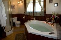 Degas features the largest private bath with large jetted tub for two.