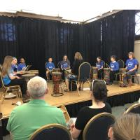 A Celebration of Young Artists is at the Cultural Arts Center during the month of April; Lincoln's World Drumming Featured at Open House