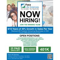 Foxx Life Sciences: Various Positions Available!