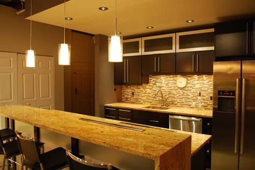Ayer Lofts Condominium, Luxury Kitchen Renovation | Lowell, MA