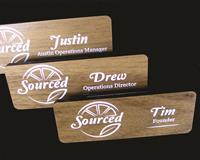Walnut Name Badge from High Point Award and Gift