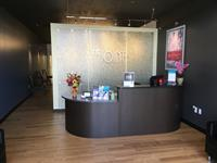 The welcoming lobby of The Joint Chiropractic.