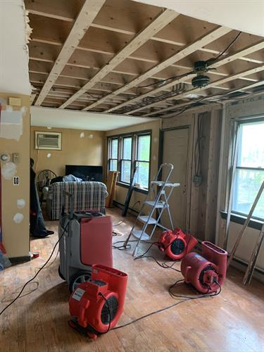 Water loss, demo, and mold remediation