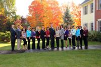 The Santo Team takes advantage of a beautiful New England autumn day