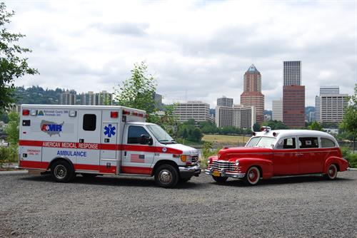 Modern Type 3 Ambulance with 1947 Cadillac Superior Ambulance.  Originally made for Buck Ambulance,saw EMS service int he Portland area for over ten years.