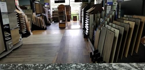Showroom wood flooring