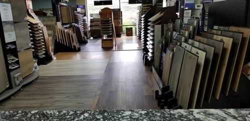 Showroom wood flooring