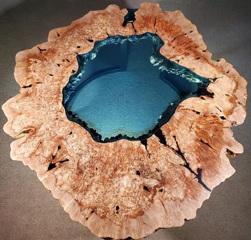 Top View Maple Crater Lake Table