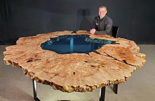 Maple Burl Crater Lake Table