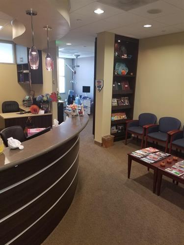 Front desk/reception area