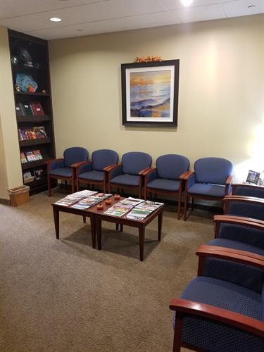 Reception area pre-covid
