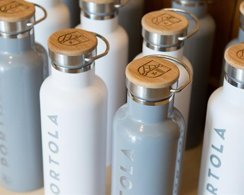 We can laser engrave your logo onto our bottles!