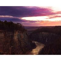 Crepuscular Series - Solstice Sunset at Letchworth