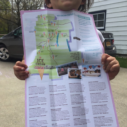 Ice Cream CONEction Brochure • Trail Map Reveal