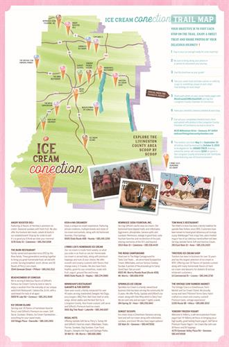 Ice Cream CONEction Trail Map