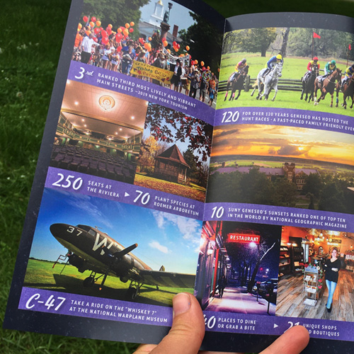 Promote Geneseo! Brochure 2020 • By the Numbers Collage