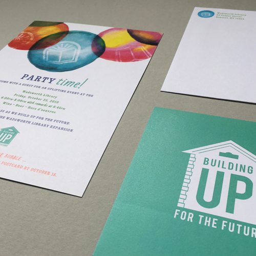 Wadsworth Library Building Up for the Future Capital Campaign • Party Invitation