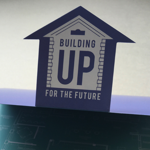 Wadsworth Library Building Up for the Future Capital Campaign • Brochure Closeup