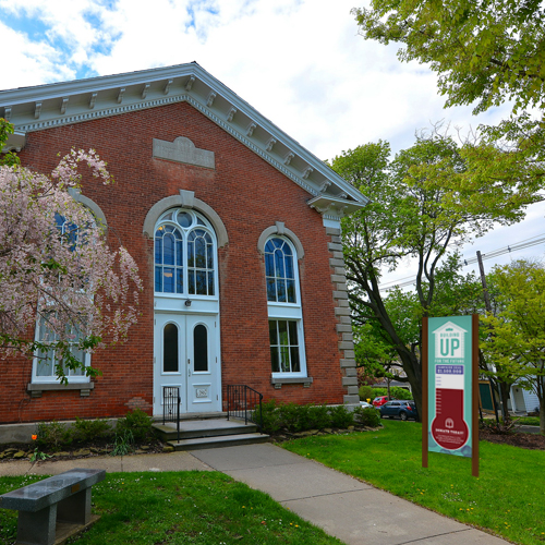 Wadsworth Library Building Up for the Future Capital Campaign • Thermometer