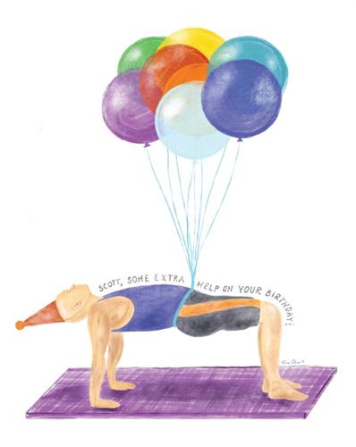 Birthday Card for Yoga Lover