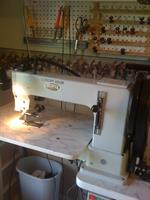 leather sewing machine ( sews up to inch thick leather )