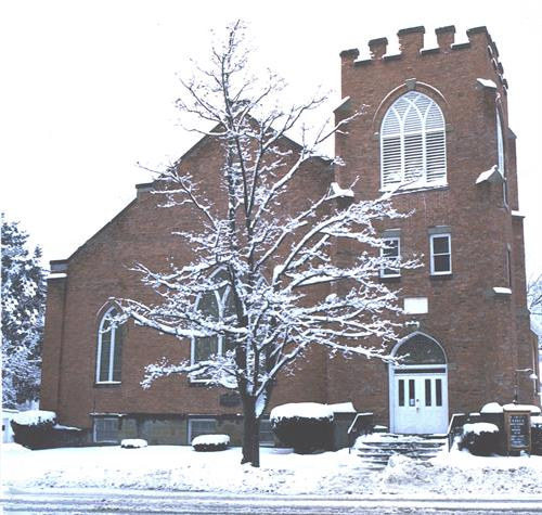 Trinity Church of Nunda in the winter