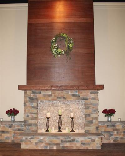 Fireplace on Banquet Stage