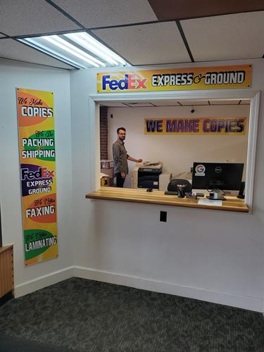 Authorized FedEx Shipping Center. Fax, Copies and Laminating