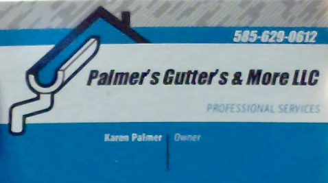 Business card of Karen Palmer of Palmer's Gutter's & More LLC
