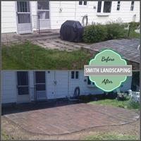 Before/After - Patio installation
