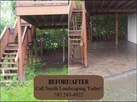 Before/After - Under deck patio installation