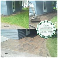 Before/After - installation of back walkway