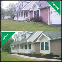 Before/After - Installation of front entry and landscape