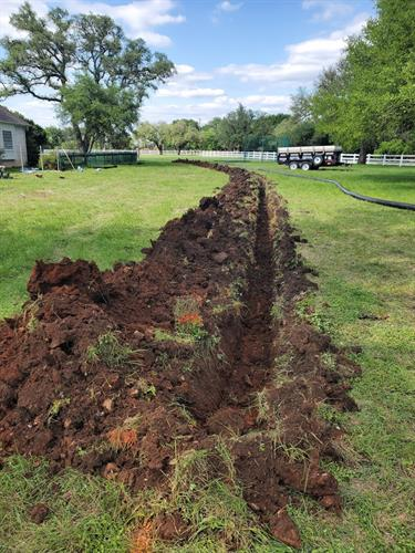 French Drain Dig