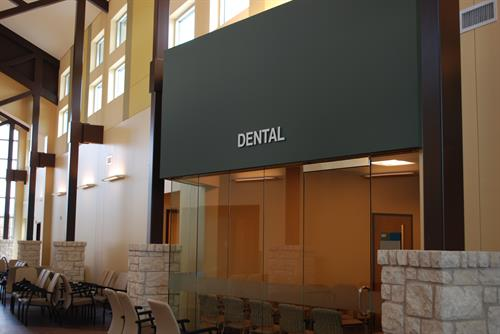 Entry to Dental Care Section at Kyle Clinic