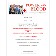 Red Cross Blood Drive Help!